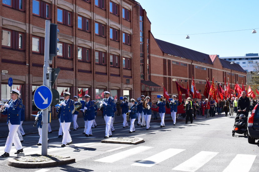 Malmö on the Labour Day: and here is the best orchestra with the best music