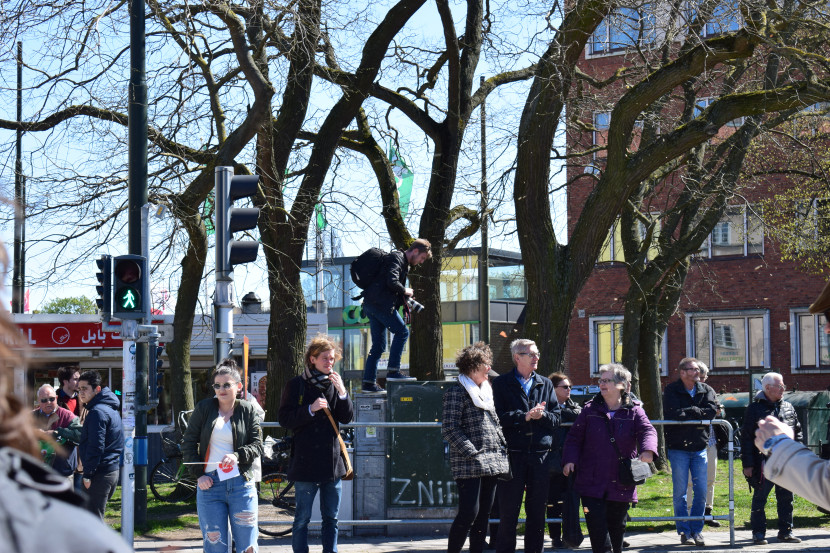 Malmö on the Labour Day: hunting the PM down and climbing different objects began