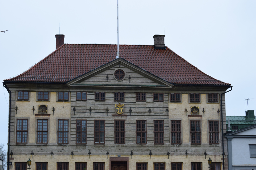 the old city hall is located opposite to the cathedral on Stortorget