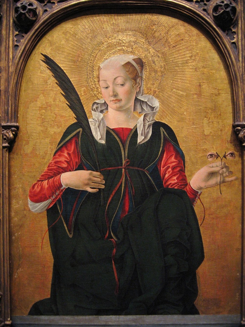 Francesco del Cossa, Santa Lucia, 1472-1743, National Gallery of Art, Washington