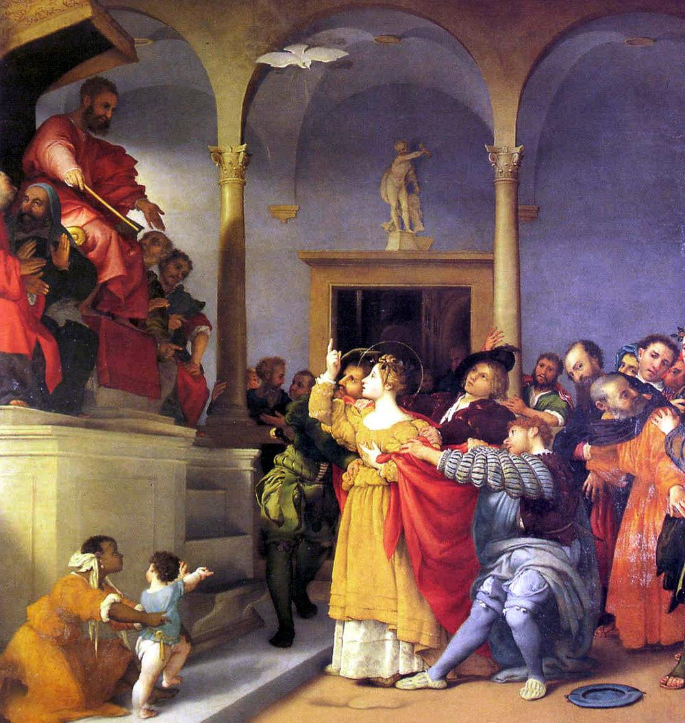 Lorenzo Lotto, Santa Lucia davanti al giudice, 1523, Pinacoteca civica e galleria di arte contemporanea, Jesi