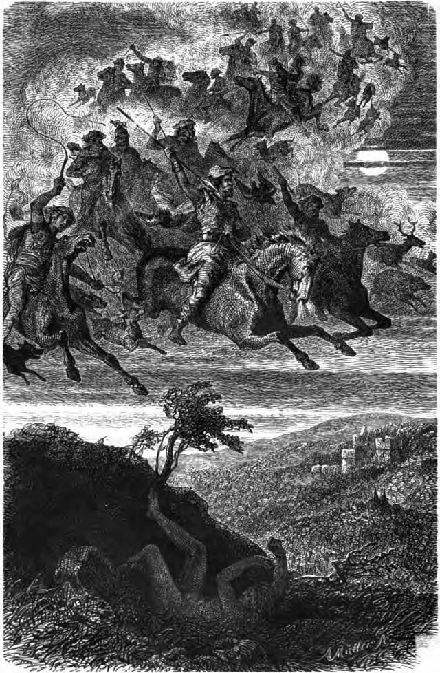 Friedrich Wilhelm Heine, Wodan's Wild Hunt, 1882, source: en.wikipedia.org