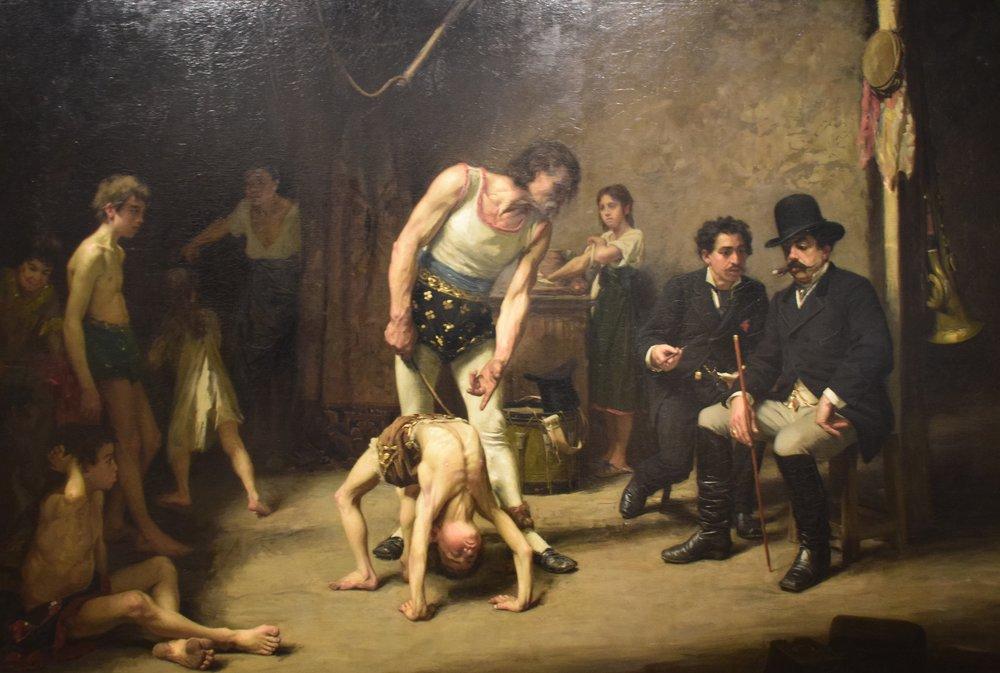 Nils Försberg, Akrobatfamilj inför cirkusdirektören (Acrobat Family before the Circus Manager), 1878