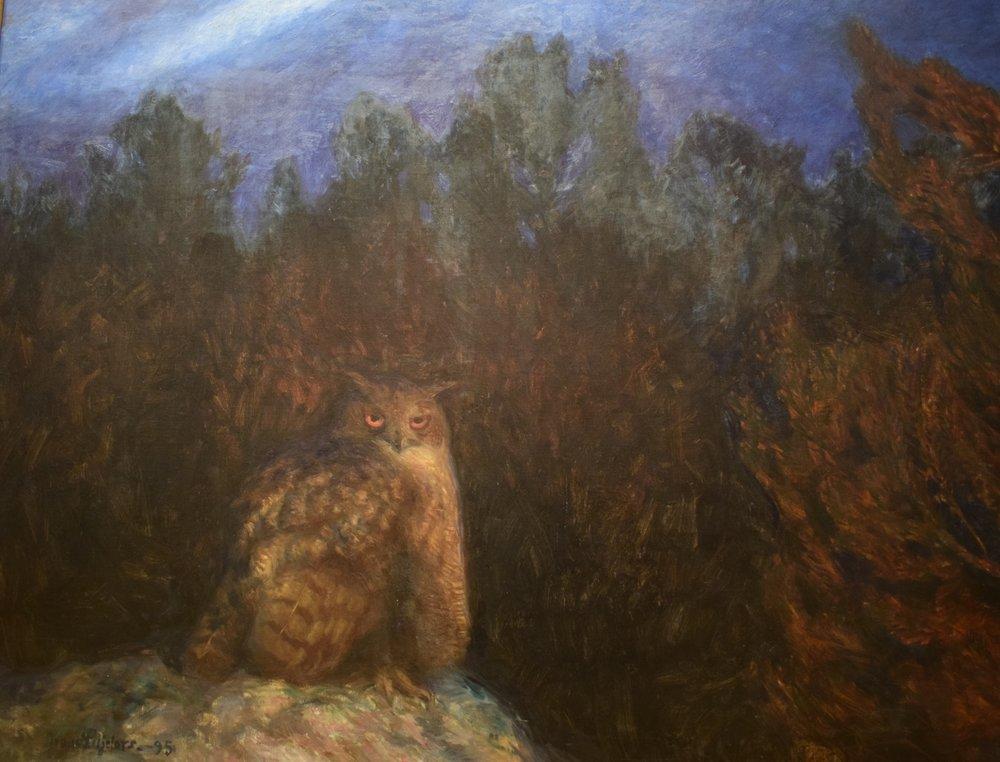 Bruno Liljefors, Uven djupt inne i skogen, 1895