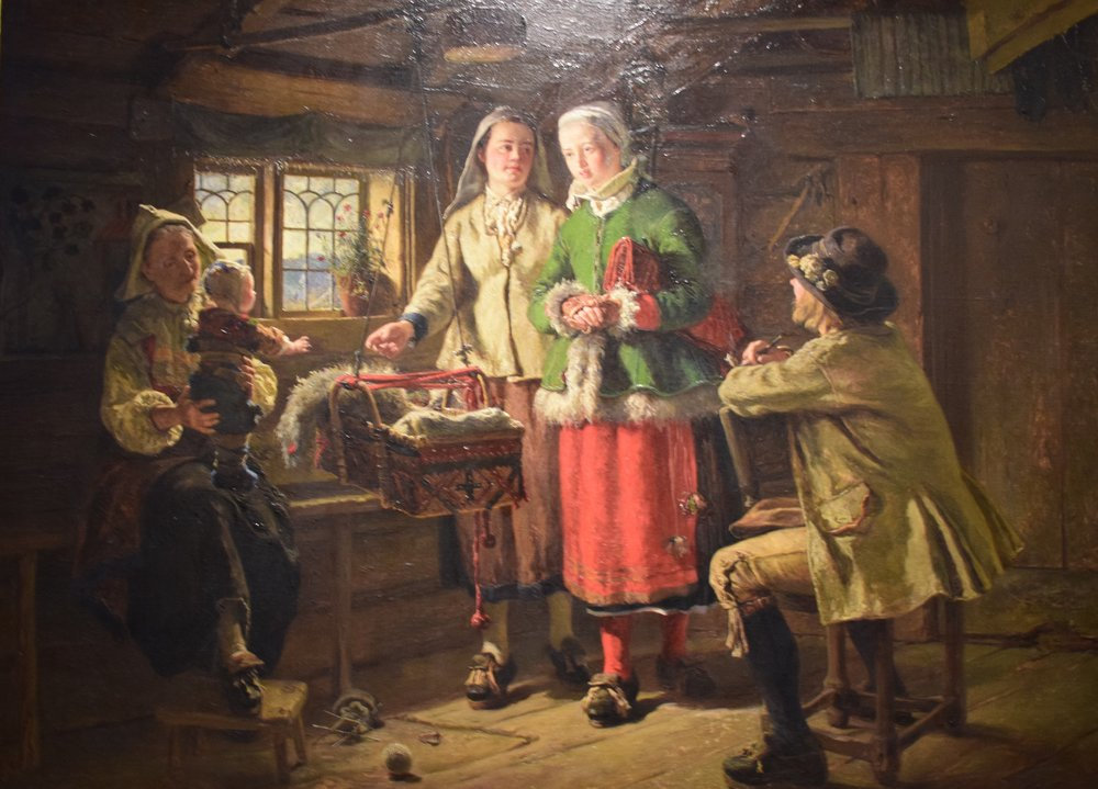 Johan Fredrik Höckert, Godmother's Visit, 1866, Göteborgs konstmuseum