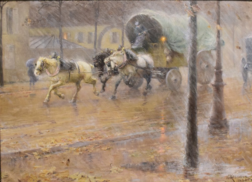 Nils Kreuger, Hästekipage (Horse-Drawn Carriage), 1886