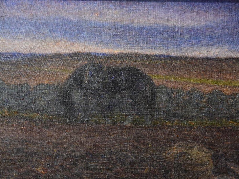 Nils Kreuger, Landskap med häst (Landscape with horse), 1894
