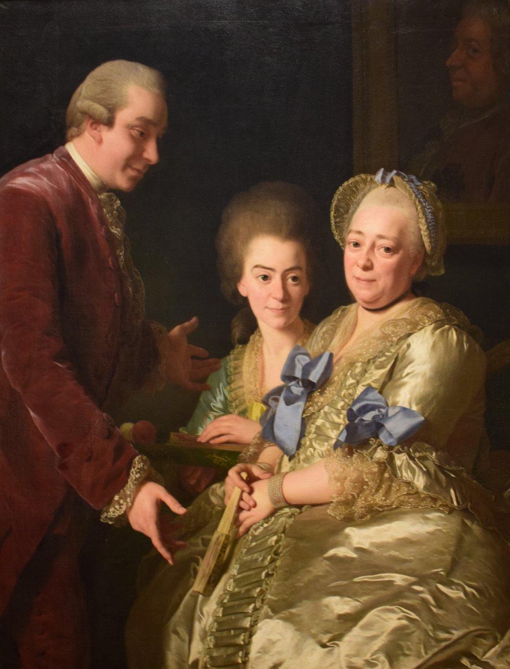 Alexander Roslin, Änkefru Anna Johanna Grill med son och dotter (The Widow Anna Johanna Grill with Son and Daughter), 1775