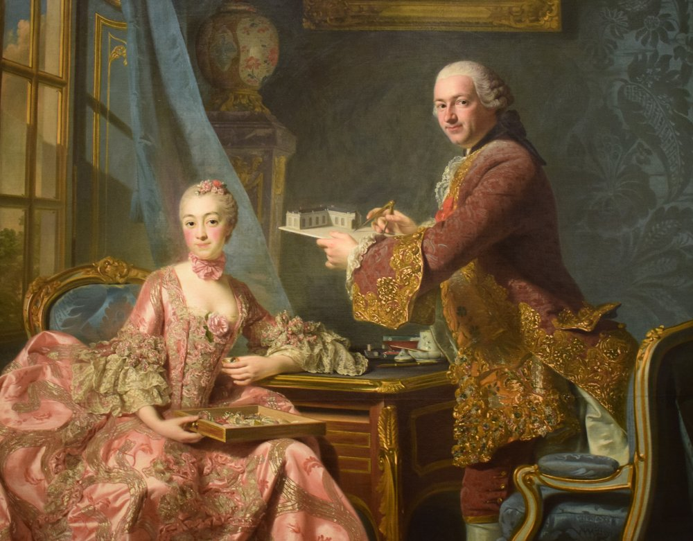 Alexander Roslin, Dubbelporträtt (Double Portrait), 1754