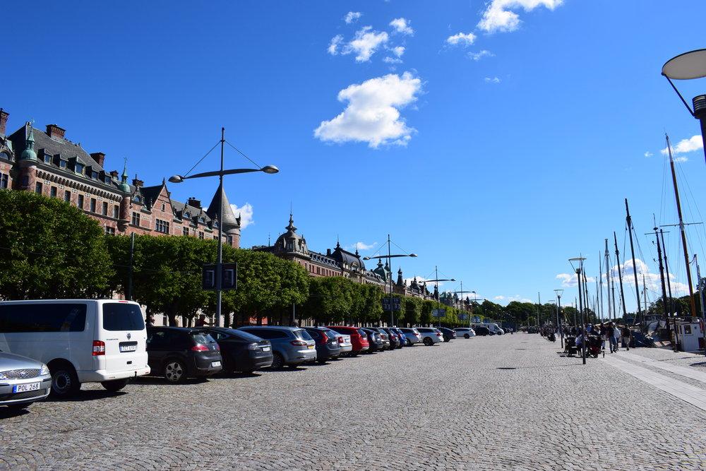Stockholm - view of the city, Strandvägen