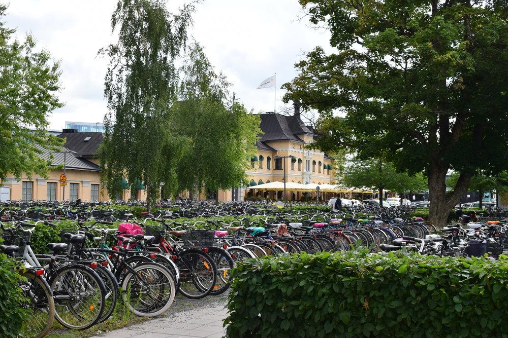 Bicycles station, Uppsala