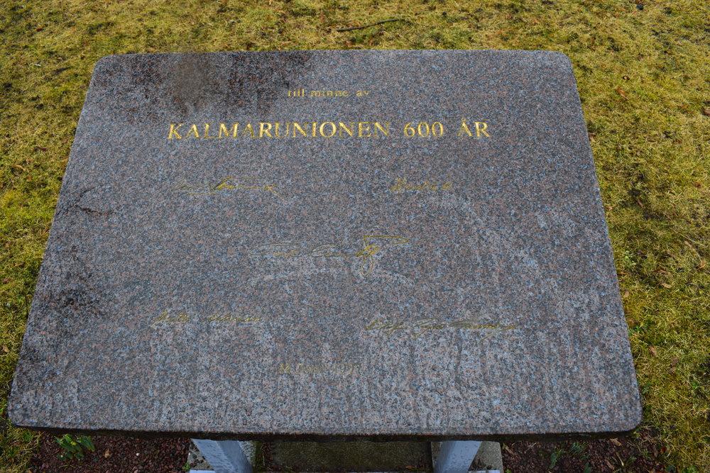 Memory stone for the Kalmar Union