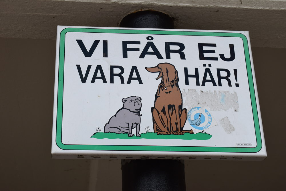 Malmö - Attention, dogs