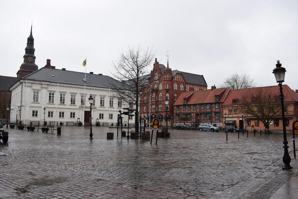 Ystad, the square