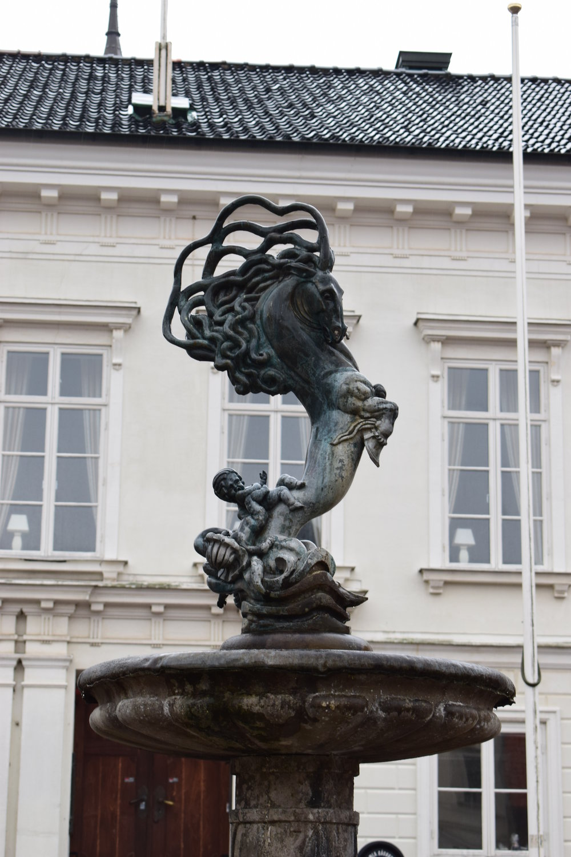 Ystad, the crazy horse sculpture