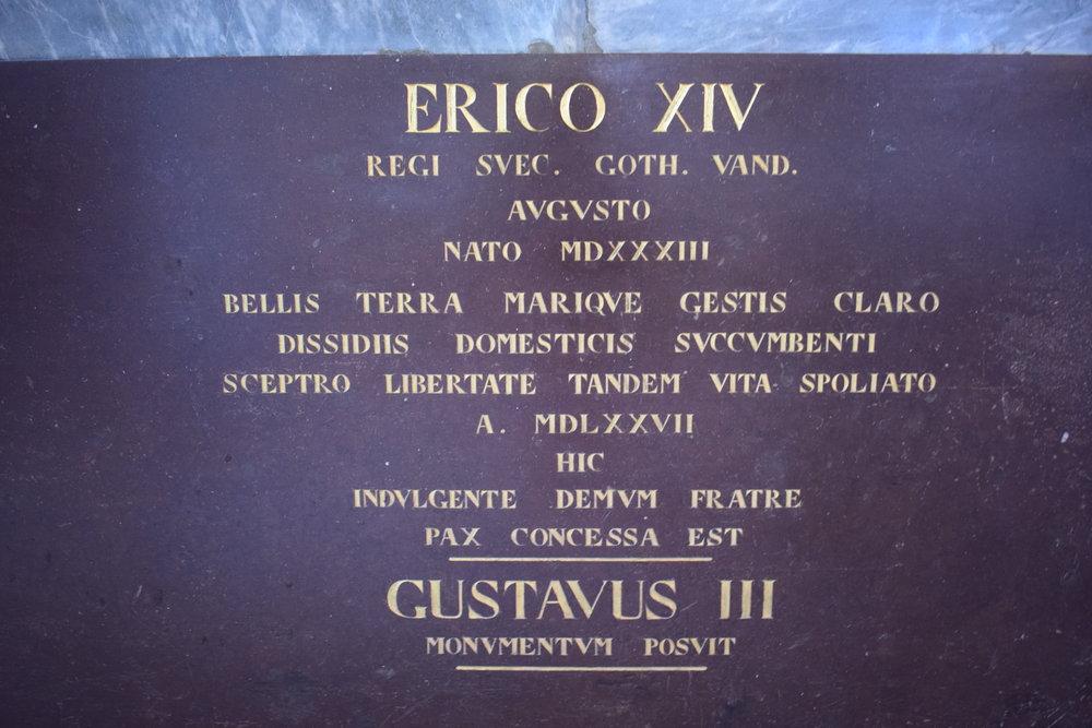 Erik XIV, Västerås