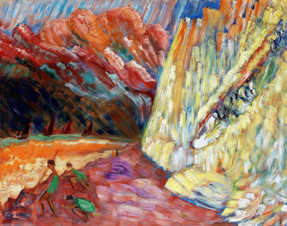 Sigrid Hjertén, Lime Rock, St. Aubin, France, 1935, Bukowskis' Auction, Stockholm, Sweden, source: www.flickr.com