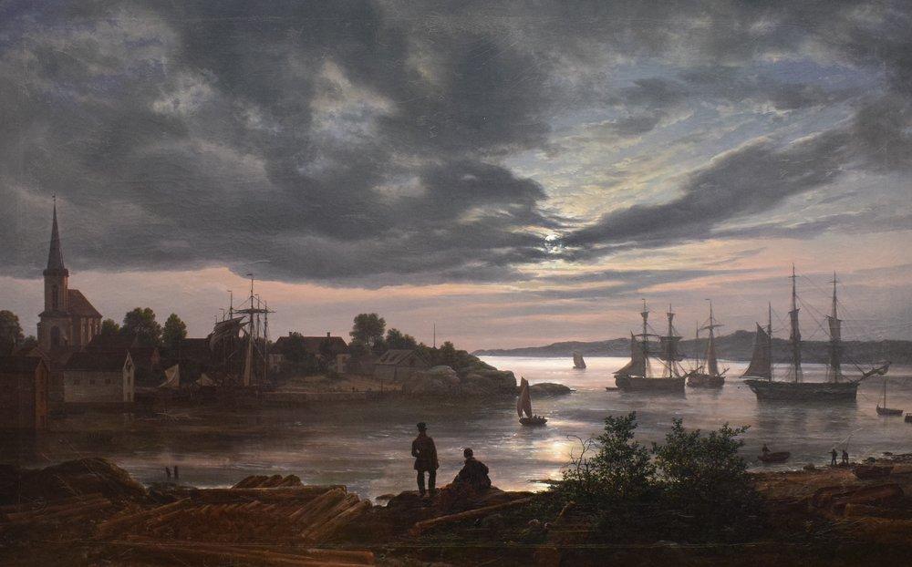 Johan Christian Dahl, Larvik by Moonlight, 1839, Nasjonalmuseet
