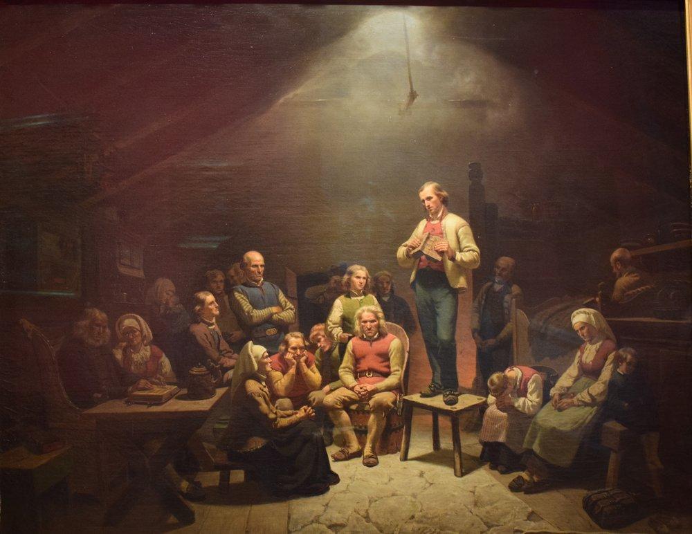 Adolph Tidemand, Low Church Devotion, 1848, Nasjonalmuseet