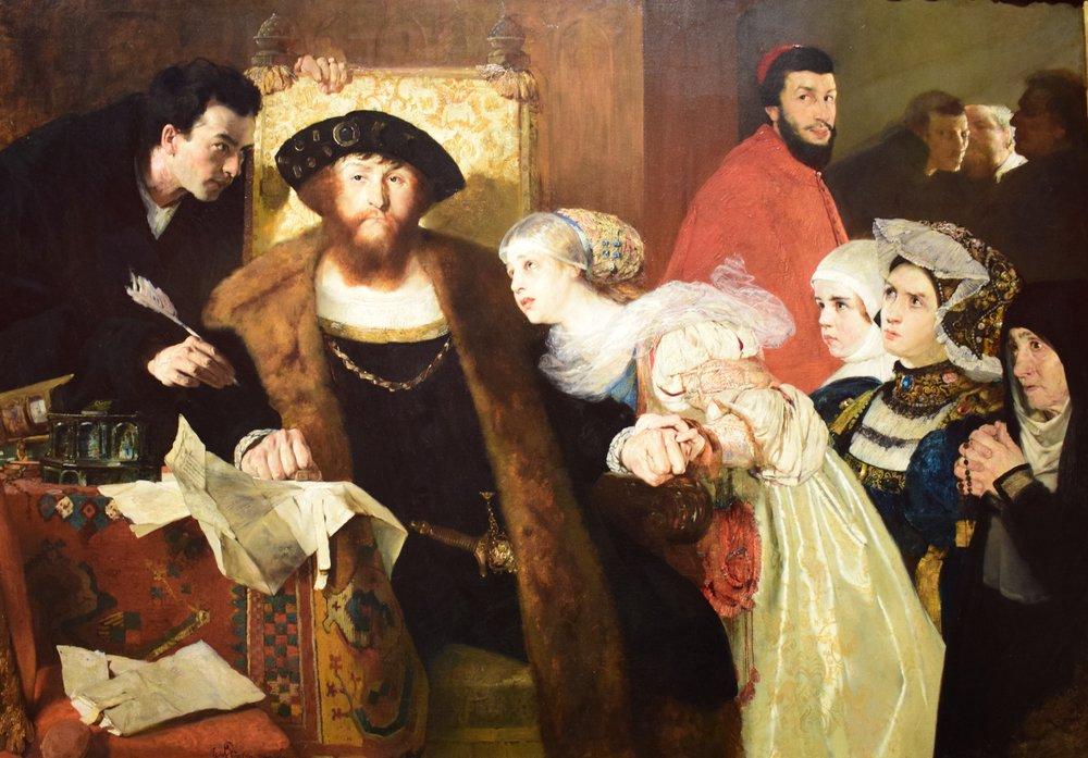 Eilif Peterssen, Christian II signing the Death Warrant of Torben Oxe, 1875-1876, Nasjonalmuseet