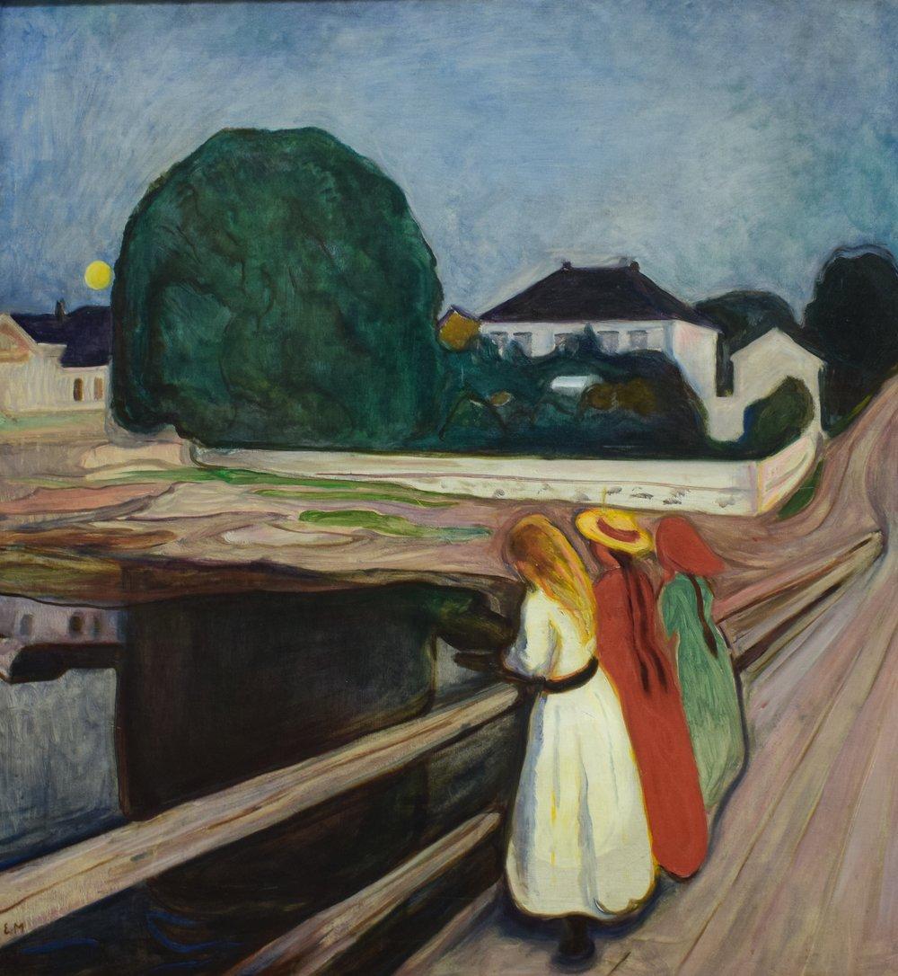 Edvard Munch, Girls on the Bridge, c. 1901, Nasjonalmuseet