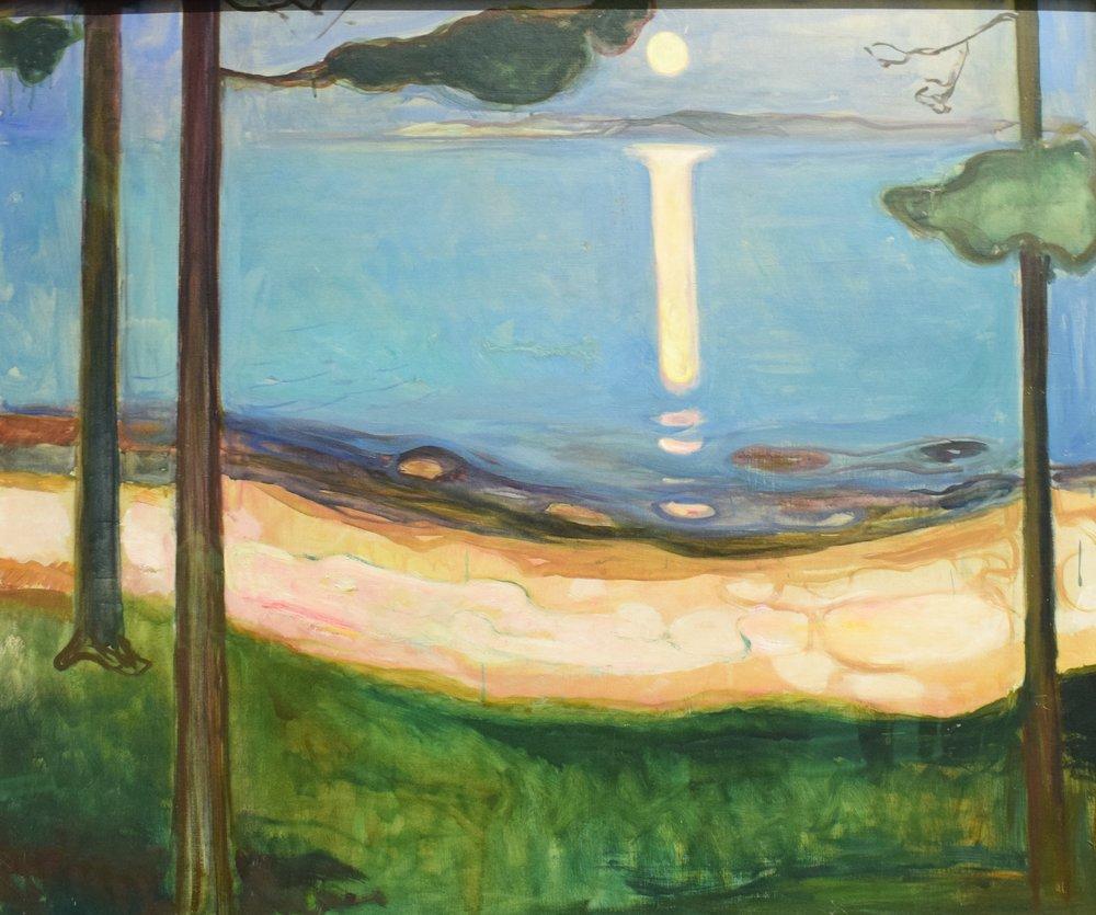 Edvard Munch, Moonlight, 1895, Nasjonalmuseet