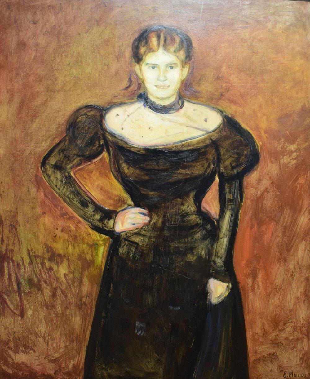 Edvard Munch, Portrait of the Painter Aase Nørregaard, 1899, Nasjonalmuseet