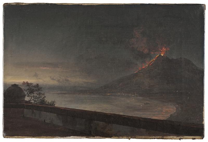 Johan Christian Dahl, View of Vesuvius from Villa Quisisana, 1820, Nationalmuseum