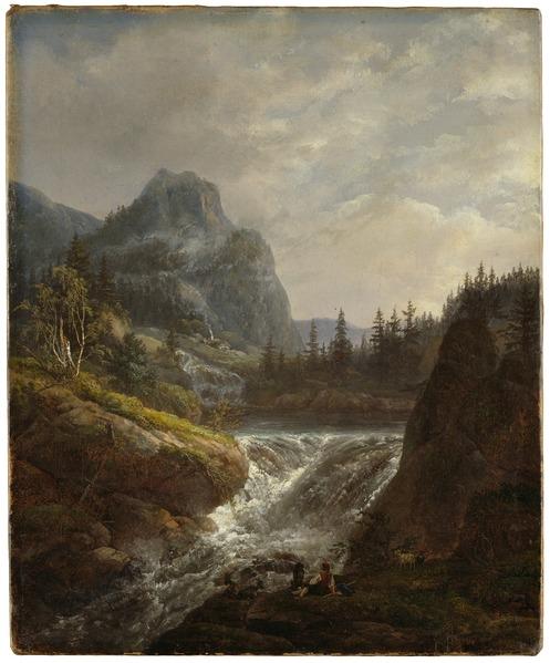 Johan Christian Dahl, Norwegian Landscape, 1822, Nationalmuseum