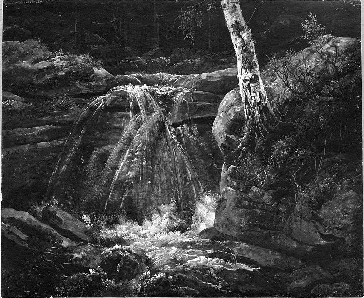Johan Christian Dahl, A Waterfall. Study, 1820, Nationalmuseum