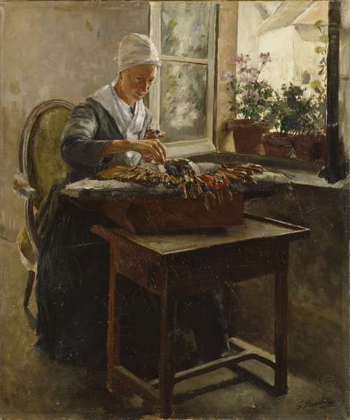 Georg Pauli, The Lace-Maker, 1885, Nationalmuseum