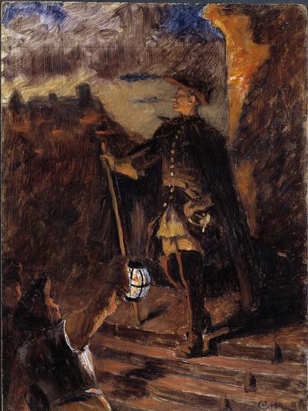 Gustaf Cederström, 30th November. Sketch, 1896, Nationalmuseum