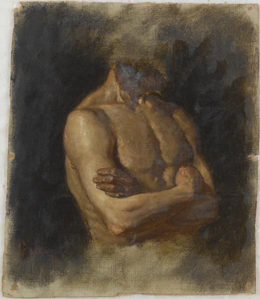 Gustaf Cederström, Nude, 1871, Nationalmuseum