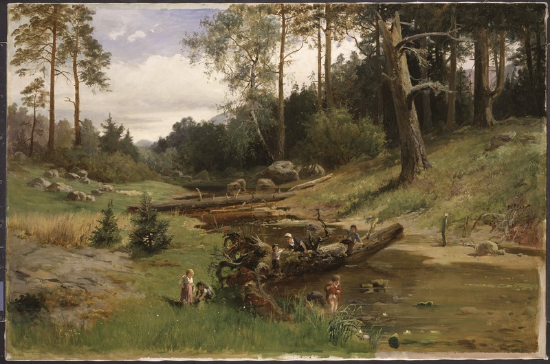 King Charles XV, By the Brook in the Forest, Nationalmuseum, 1872