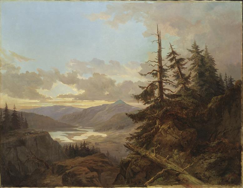 King Charles XV, Norwegian Landscape in the Light of Early Morning, Nationalmuseum