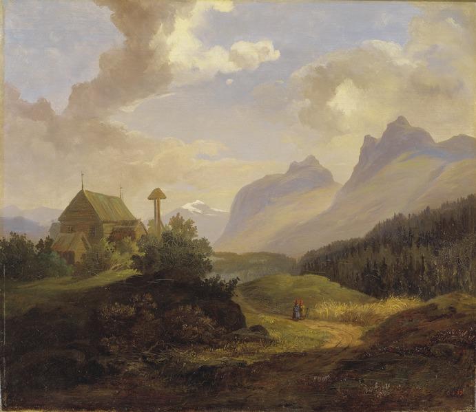 King Charles XV, Scenery from Kvikkjokk, 1859, Nationalmuseum