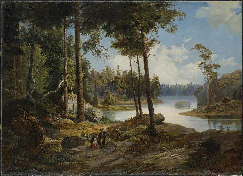 King Charles XV, View from Värmdö, Nationalmuseum, 1865