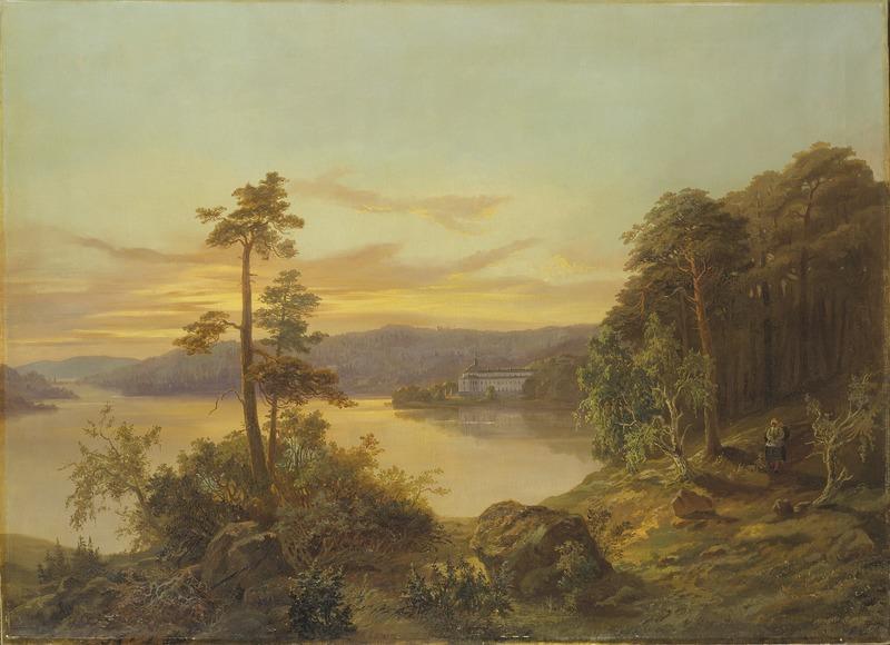 King Charles XV, View of Ulriksdal, Nationalmuseum, 1868