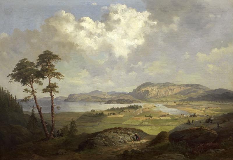King Karl XV, Landscape from Tröndelagen, Nationalmuseum, 1861