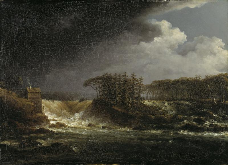 Carl Johan Fahlcrantz, A Waterfall, Älvkarleby, Nationalmuseum