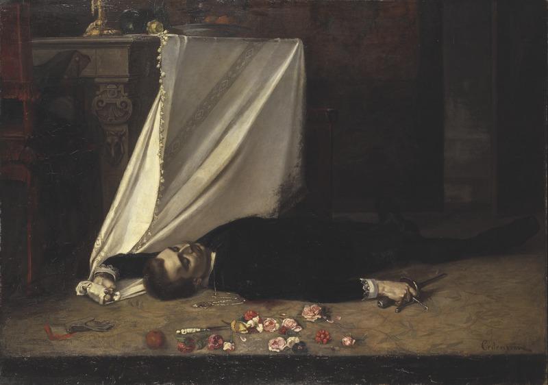 Gustaf Cederström, Epilogue, 1874, Nationalmuseum