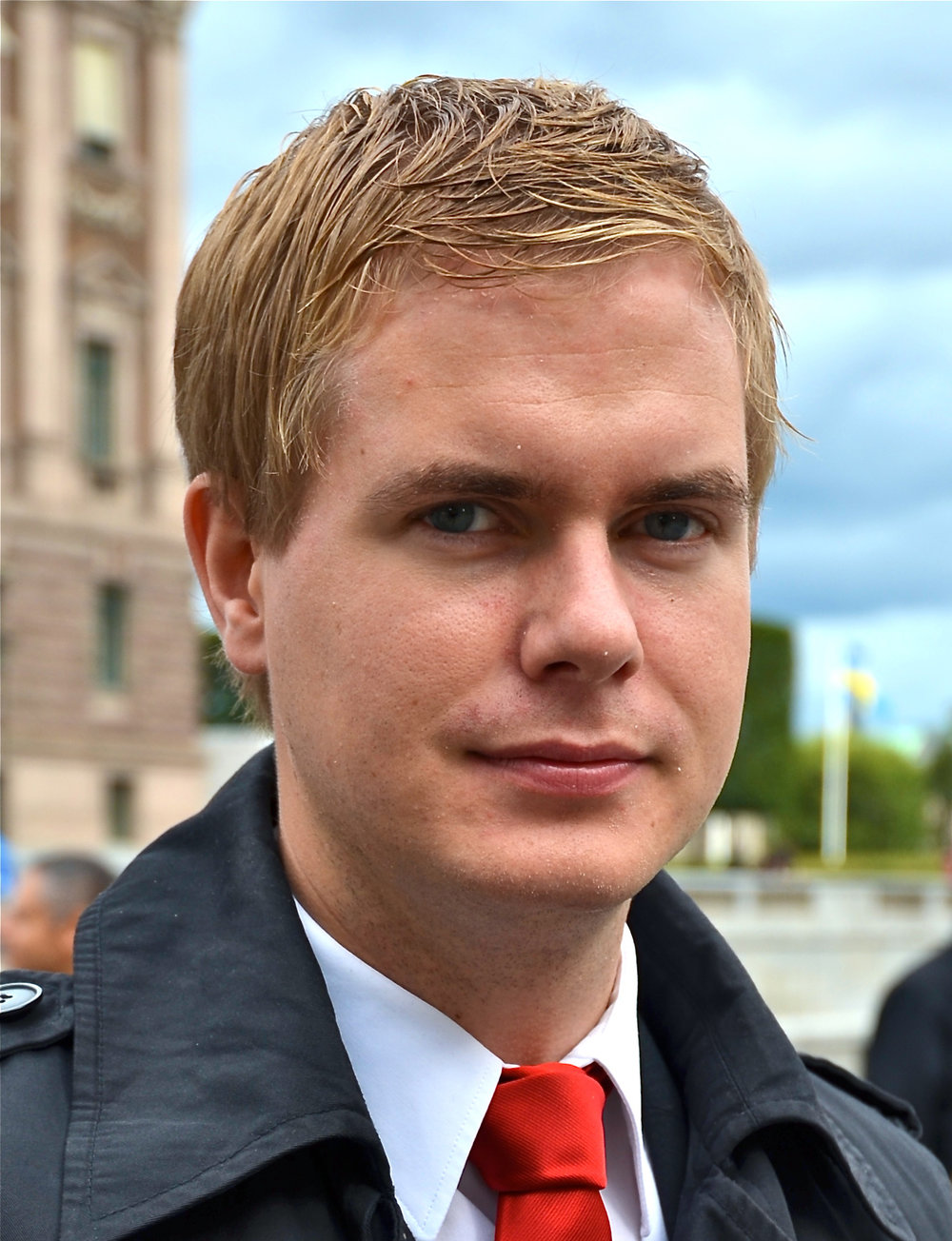 Miljöpartiet (Green Party Sweden) was represented by Gustav Fridolin, Minister of Education in Löfven Cabinet, spokesperson of the Green Party.