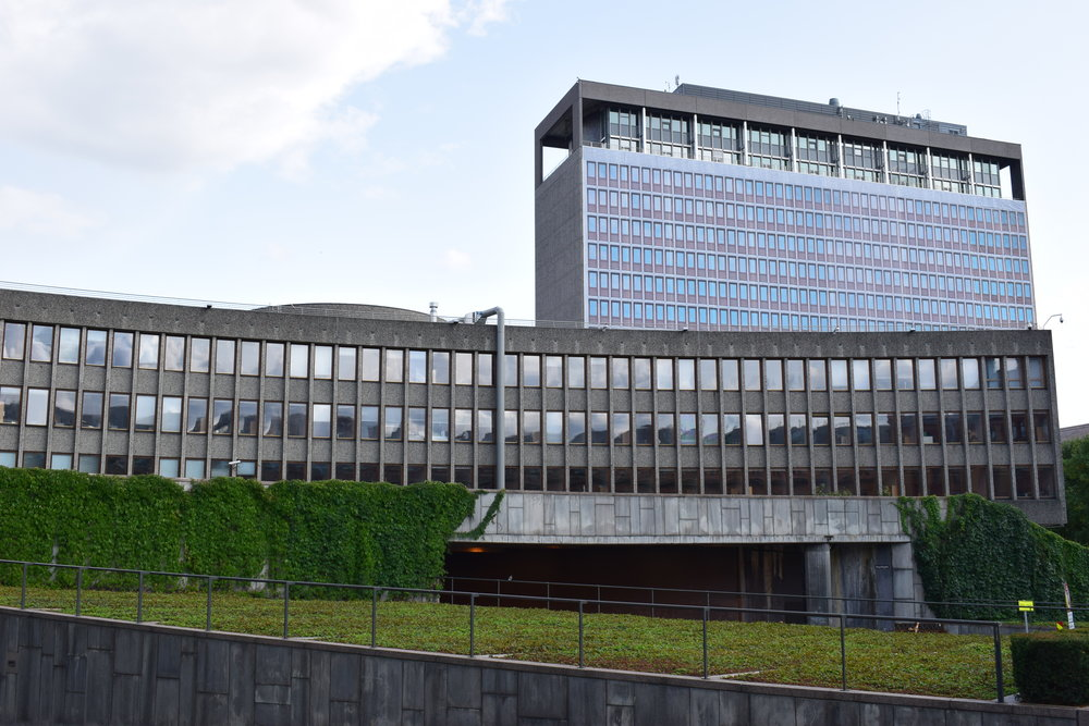 Y-Blokken (Ministry of Education and Research until 22 July 2011) and Regjeringsbygget   (Office of the Prime Minister and Ministry of Justice and the Police until 22 July 2011)