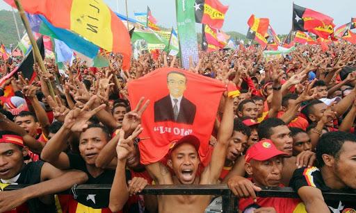 Поддръжници на FRETILIN, седмица преди изборите през 2017г.  Снимка: Reuters/Lirio da Fonseca