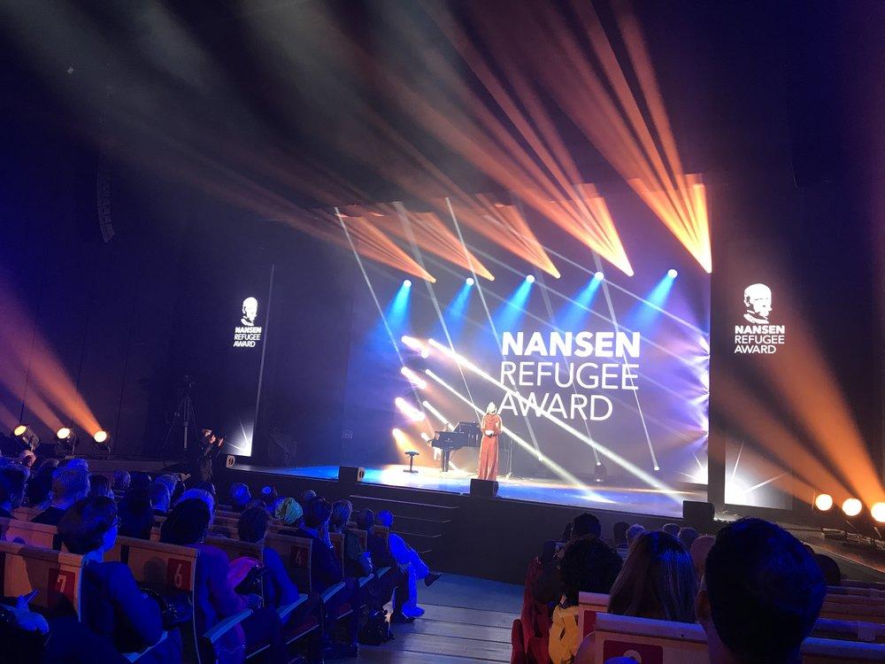 Nansen Refugee Award - Vi hade äran att få deltaga vid utdelningen av Nansen Refugee Award 2017 i Geneve, Schweiz. Nansenpriset är ett pris som instiftades av FN 1954 till minne av Fridtjof Nansen, som 1921 av Nationernas Förbund utsågs till den första Högkommissiarien för flyktingar.