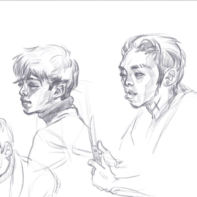 More character face exploration. Going for a realistic look first and then I'll simplify!