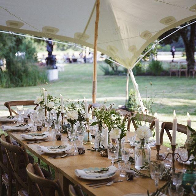 La table végétale et raffinée du mariage de P & C par @artis_evenement 🌿💜