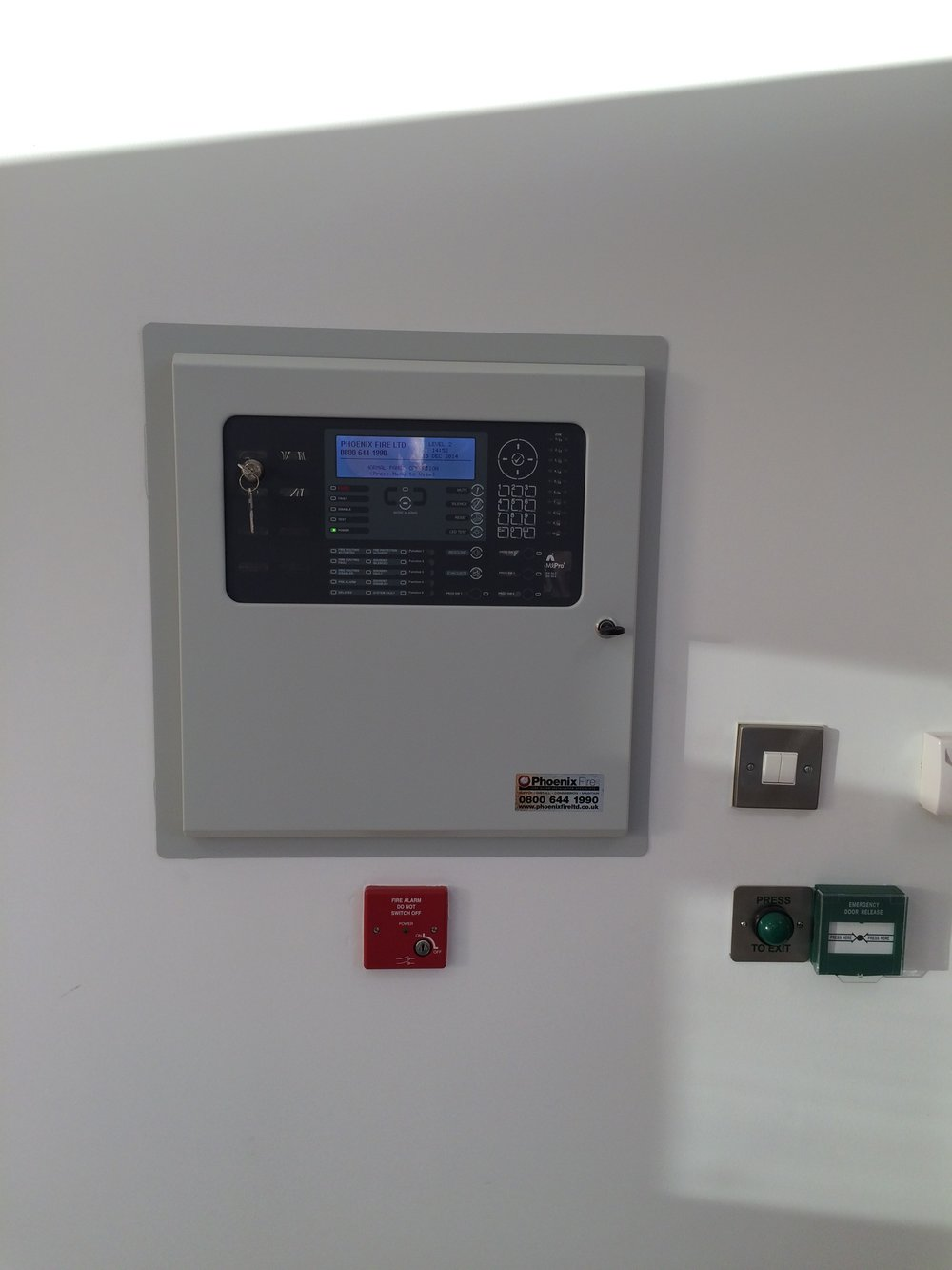 Fire alarm panel in commercial property