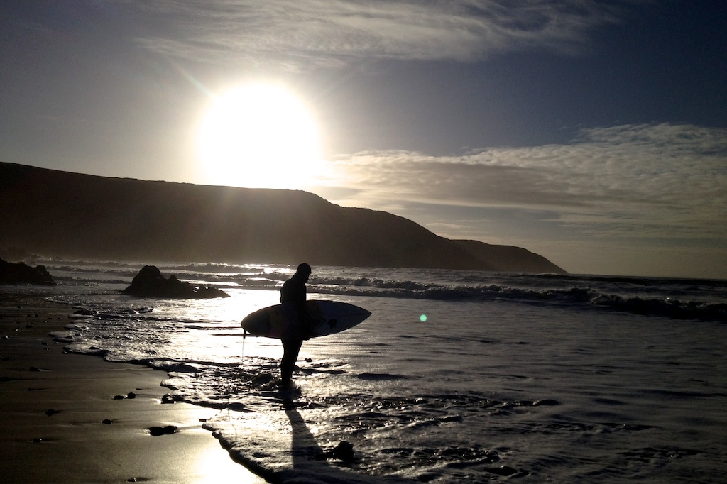upcott farm silhouette surfer