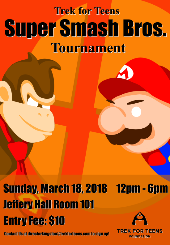 Trek for Teens Super Smash Bros. Tournament Poster 2018.png
